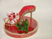 "Новогодняя туфелька на коробке конфет""Стрела"""