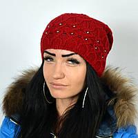 """Женская шапка NORD """"Samanta"""" Красный"""
