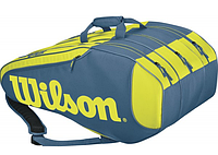 Теннисная сумка Wilson Burn Team 12Pk Blue/Yellow