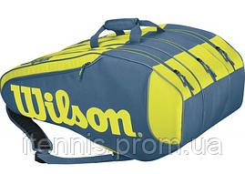 Теннисная сумка Wilson Burn Team 12Pk Blue/Yellow