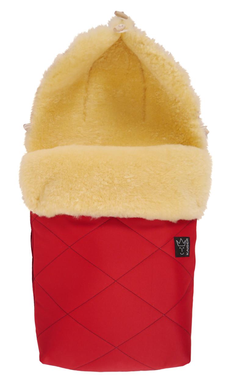 Зимний конверт на овчине Natura Kaiser, цвет красный