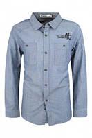 Школьная рубашка для мальчика р.134-164 (арт. 9726 св.сер)