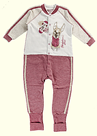 Комбинезон для новорожденных ТМ Ля-Ля, футер (артикул 8А125Ф)