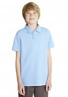 Голубая рубашка-поло для подростка. р.170-176