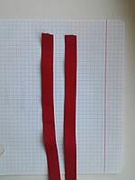 Резинка для шлеек бюстгалтера. Красная. Резинка двухсторонняя ,швейная фурнитура для белья .