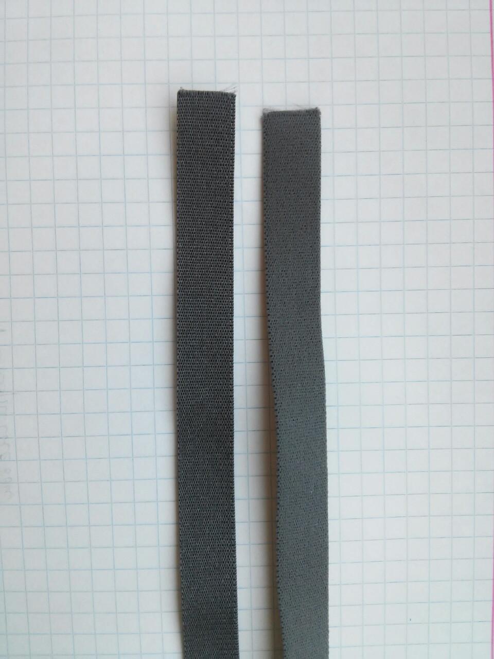 Резинка для шлеек бюстгалтера. Джинсовый  , серо-синий. Резинка двухсторонняя ,швейная фурнитура для белья .