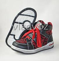 Детские демисезонные ботинки кроссовки красные для мальчика Bessky 28р., фото 2