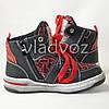 Детские демисезонные ботинки кроссовки для мальчика красные Bessky 29р., фото 3