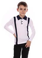 Школьная рубашка-поло для мальчика р.122-146 (арт.15315)