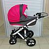 Коляска Adamex Galactic 09 P розовый белый-графит