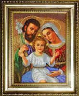 Вишивка ікони бісером Святе сімейство 25.40 X 33.87