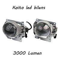 Автомобильные Led билинзы Koito, 3000 Люмен, Оригинал