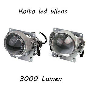 Автомобильные Led билинзы Koito, 3000 Люмен, Оригинал, фото 2