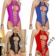 Сексуальное Женское белье комбидресс боди 4 цвета