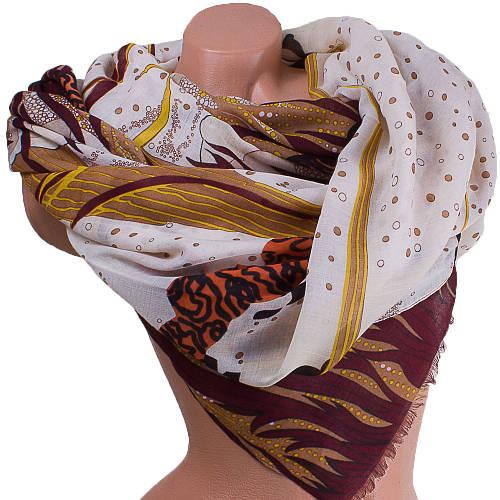 Светлый женский шарф из хлопка 187 на 87 см  ETERNO (ЭТЕРНО) ES0908-6-1 бежевый