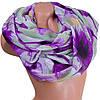 Освежающий женский шарф из хлопка 187 на 89 см  ETERNO (ЭТЕРНО) ES0908-12-4 фиолетовый
