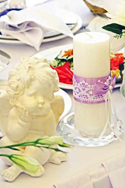 Свадебные свечи. Декор свечей