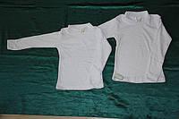 Детская водолазка Американка белая с длинным рукавом фулликра