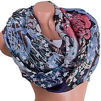 Праздничный женский шарф из хлопка 188 на 89 см  ETERNO (ЭТЕРНО) ES0908-11-2 разноцветный