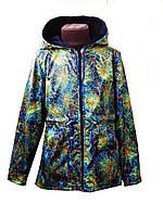 Куртка-ветровка для мальчиков детская на флисе