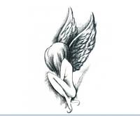 Флеш тату. Временная татуировка. Ангел 10.5 x 6 см