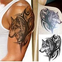 Флеш тату. Временная татуировка. Волки