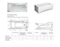Панель для ванны 180 VIRGO/ZEN Вирго Зен Церсанит