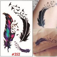 Временная татуировка.Перо