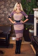 Стильное платье Nikoletta бежевый