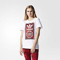 Женская футболка Adidas Originals Tongue Label Boyfriend (Артикул: AY8678)