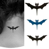 Временная татуировка. Летучая мышь 10.5 x 6 см