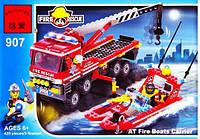 Конструктор пожарная машина и катер brick 907 as kk