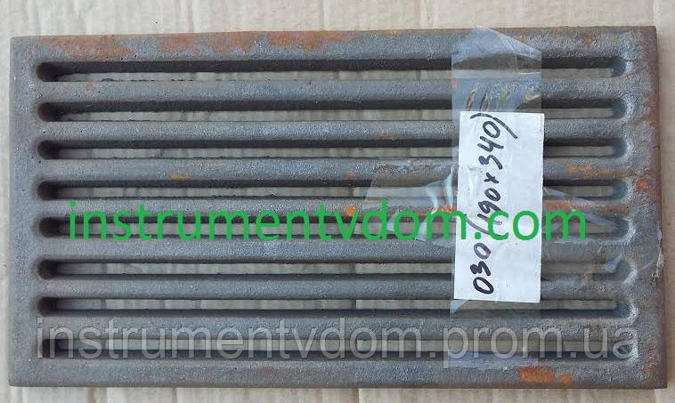 Колосниковая решетка чугунная (190х340 мм)