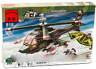 Конструктор Brick 818 Военный вертолет, 275 деталей AS