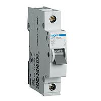 Автоматический выключатель Hager 10А, 1ф, С, 6кА MC110A