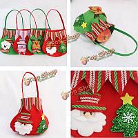 Сумочка-мешочек для конфет рождественская