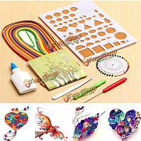 7шт 12 цветов бумаги рюш инструменты доска Рюш комплект разглаживания бумаги искусства инструмент