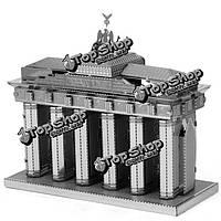 Айпин поделки 3d головоломки модель из нержавеющей стали набор Бранденбургские ворота серебряный цвет