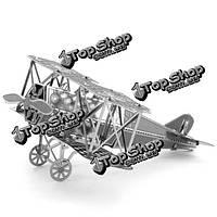Айпин поделки 3d головоломки модель из нержавеющей стали комплект Fokker крылья истребителя серебряный цвет