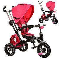 Велосипед M 3202A-1 (1шт)три кол.,резина(12/10),поворот,быстросъем.кол.,фикс.руля,звонок,розовый
