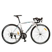 "Велосипед 28 ""CITY 28-2 алюминий, бело-бирюзовый, кор., 134-72-18,5 см"