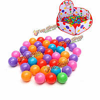 Мячи игровые пластиковые для бассейна разноцветные 5.5см