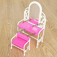 Туалетный столик со стульями для кукольного домика