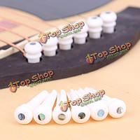 Крупный рогатый скот кости гитары endpin с ушка дот конца моста штифтом для акустической гитары