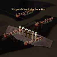 Медь ушка гитара моста кости булавки набор для акустической гитары