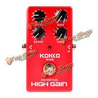 Flanger истинный байпас с высоким коэффициентом усиления педали искажения гитарный эффект KH8 Kokko