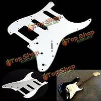 Белый электрическая гитара накладкой для Fender Stratocaster STRAT стандарт 3 слоя