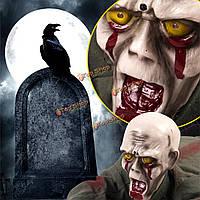 Анимированный батарейках ползет зомби Хэллоуин кровопролитные привидениями реквизита дом
