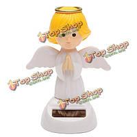 Солнечной энергии качающейся головой движущихся крылья ангела, танцующие