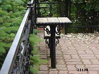 Столик и лавочка на кладбище